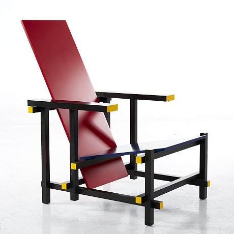 Gerrit Rietveld Red and Blue Chair