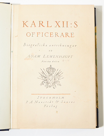 Lewenhaupt Karl XII:s officerare 1920-21 2 vol