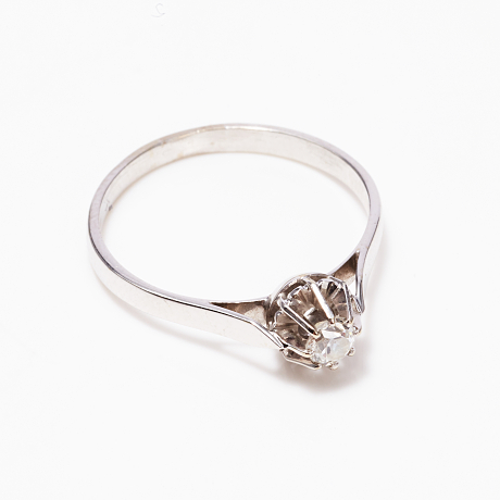 Ring vitguld diamant