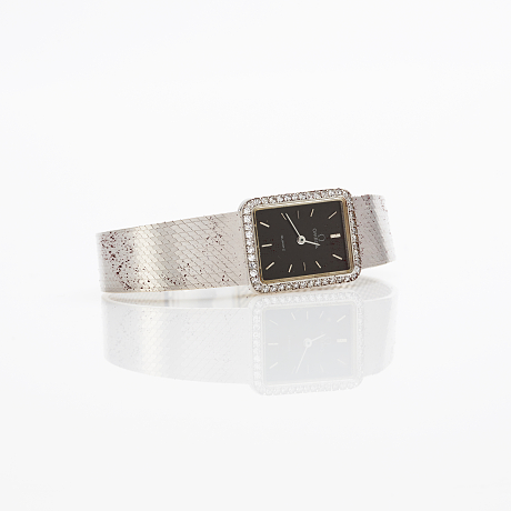 Omega ladies watch in 18 k white gold