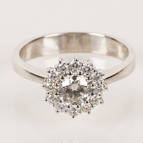 Ring 18k vitguld briljanter tot ca 0,67 ct