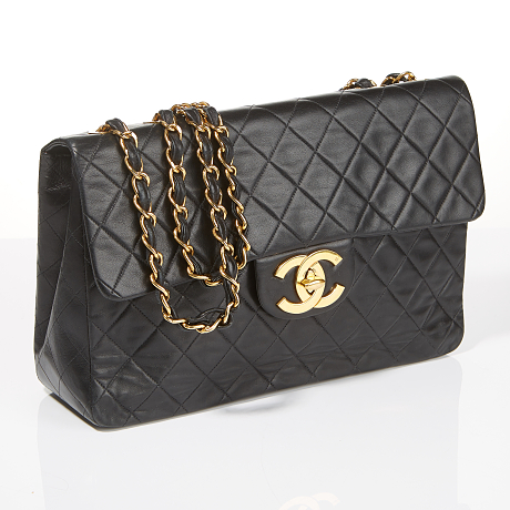 Chanel axelbandsväska Classic Single Flap Maxi i